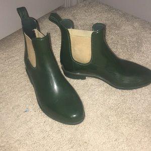 Ralph Lauren green rain boots